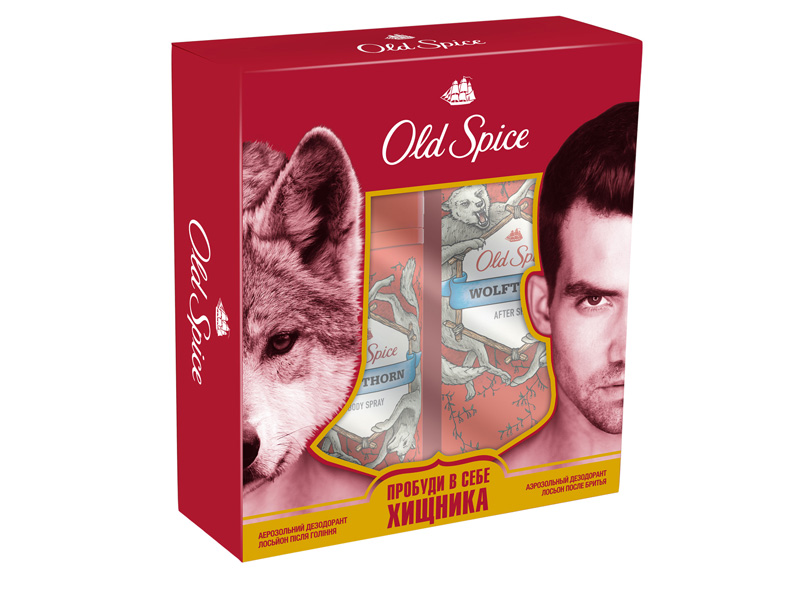 Набор для ухода за телом Old Spice Подарочный набор Wolfthorn от Old Spice – это гель для душа и дезодорант-спрей в новой упаковке. Гель для душа помогает начать новый день на правильной волне, вместе с дерзким ароматом придавая мужчине уверенность в себе и настраивая его на удачную охоту. А дезодорант-спрей продлит эти ощущения на целый день, не давая ни на минуту забыть о своей хищной натуре – ни ему, ни тем, кто его окружает.