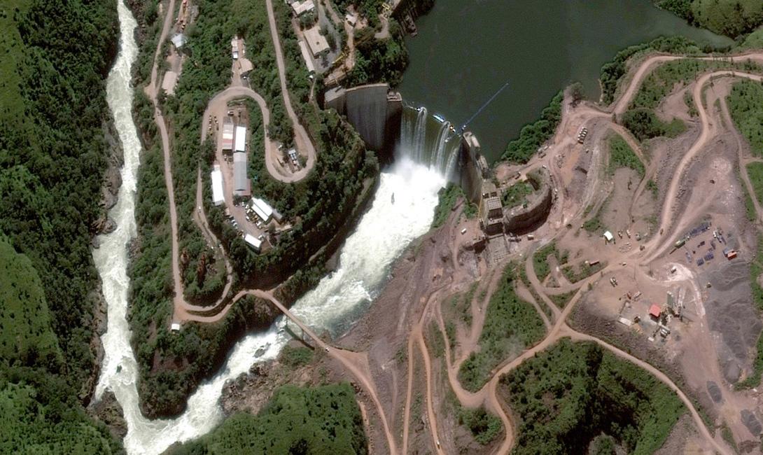 Ангола Река Кванзо, плотина Камбамбе
