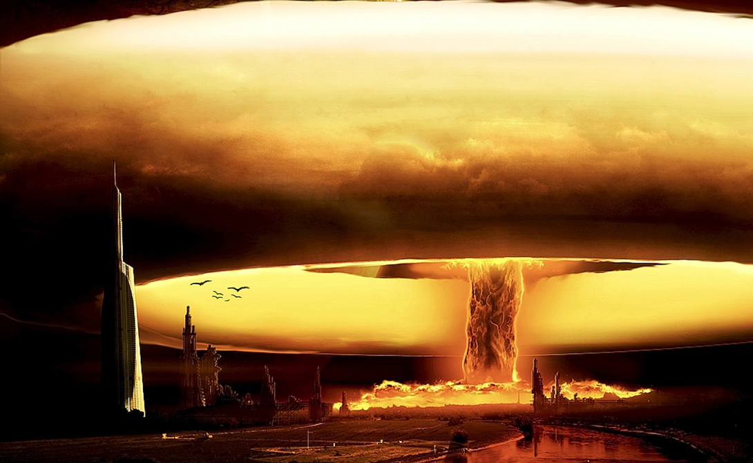Огненный шар Самым зрелищным после взрыва покажется наблюдателям огромный огненный шар: пылающие бури, инициированные детонацией водородной бомбы, будут поддерживать себя сами, вовлекая в воронку все больше и больше горючего материала.