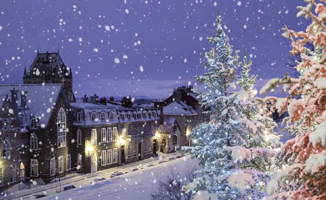 Квебек Квебек, Канада Один из старейших городов Северной Америки, Квебек может похвастать званием чуть ли не самой заснеженной населенной области планеты. Зимой здесь выпадает до 400 сантиметров снега.