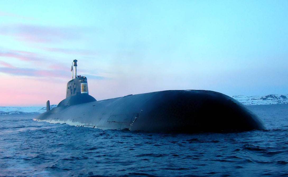 российские подводные лодки типа акула