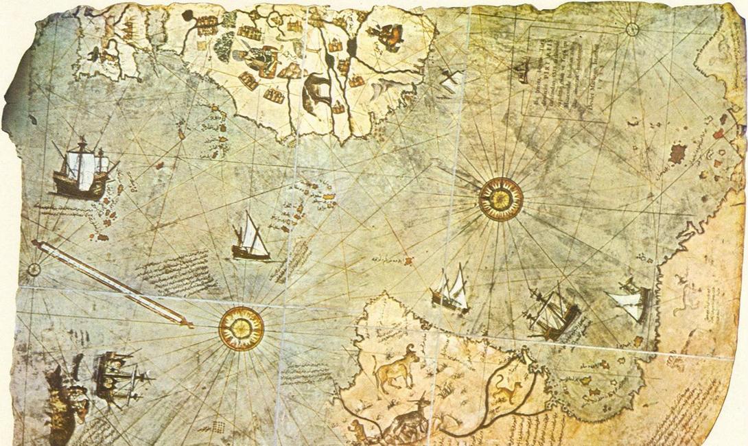 Здесь водятся тигры Пири-реис изобразил Антарктиду обитаемой. На карту нанесены леса, изображения огромных змей — и тигров, которые, вообще-то, просто не могли жить в той части света. Конечно, все это вполне подходит под образ средневекового картографа, берущего недостающую информацию прямо из головы. Вот только все остальное изображено слишком достоверно, чтобы поверить в излишнюю склонность к фантазии автора.