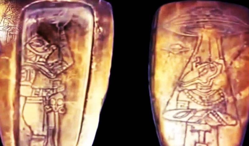 Артефакты майя Мексиканское правительство опубликовало, сравнительно недавно, информацию о шокирующей находке в одной из пирамид. Изображения, обнаруженные учеными, показывают летающие тарелки, инопланетян и контакт жрецов с внеземным разумом. Естественно, все это может быть лишь гигантской мистификацией, однако, первоначальная датировка рисунков говорит об обратном.