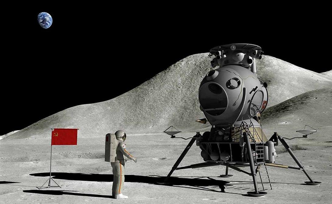 Естественно, СССР приготовились к следующему этапу — высадке человека. Проект весьма напоминал тот, что был использован впоследствии американцами. Космический модуль был рассчитан на трех человек, один из которых выйдет на поверхность.