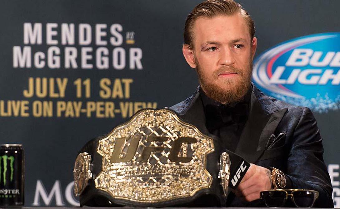 Из того боя ирландский трепач вынес звание временного чемпиона UFC, а Мендесу пришлось долго залечивать душевные раны. В сентябре Коннор заявил прессе, что собирается отстоять пояс чемпиона в полулегком весе у самого Алду, а затем перейти в легкую весовую категорию. Тут уж смеяться никто не стал — и правильно сделал. 12 декабря ирландец поставил невероятный рекорд, отправив Алду в тяжелый нокаут всего на 13 секунде боя.