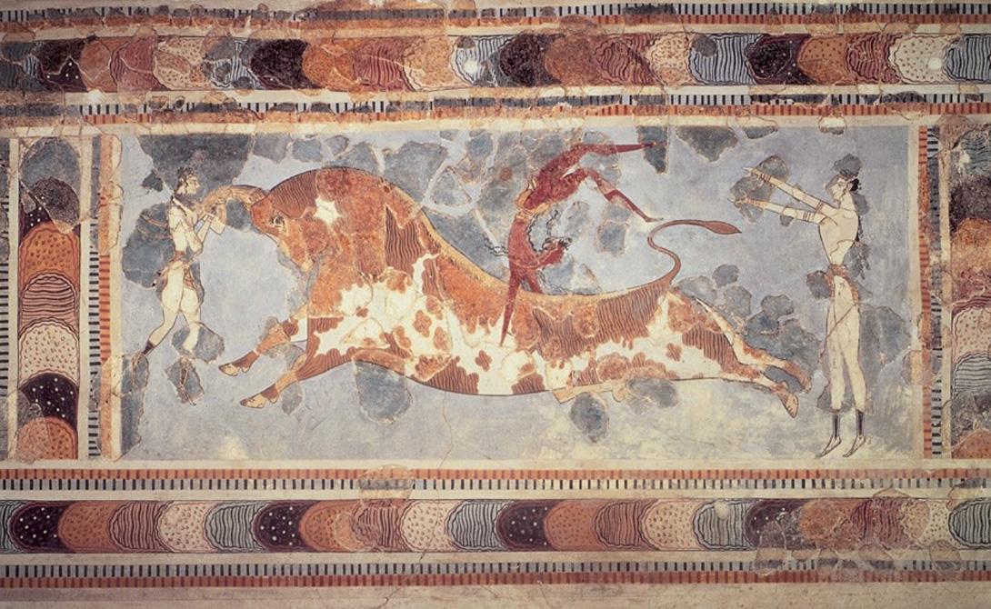 Минойская цивилизация 3000-630 до н.э. Крит Минойская цивилизации была обнаружена только в начале 20-го века. Легендарные дворцы Кносса, центр легенды о царе Миносе — их рук дело. Считается, что минойцы были уничтожены в результате извержения вулкана на острове Фера. Минойская цивилизация является одной из самых больших потерянных цивилизаций, которые существовали когда-либо.