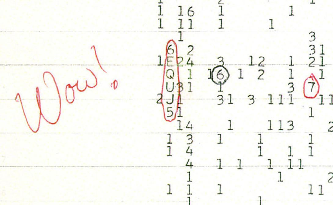 WOW Техник Джерри Эхман работал над одним из проектов Уэслианского университета в Огайо, когда получил сильный сигнал прямо из космоса — точнее, из созвездия Стрельца. Передача шла целых 72 секунды и получила наименование WOW (аналог русскому «Ничего себе!»). К сожалению, второй раз сигнал не повторялся.
