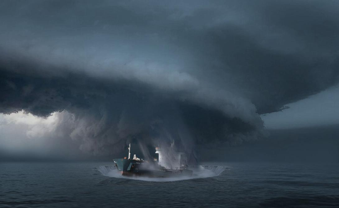 Но сейчас, похоже, загадка проклятого места может быть решена. Профессор Джозеф Монаган из университета Монаш, Мельбурн, опубликовал серьезное исследование, посвященное природным залежам метана на дне океана.