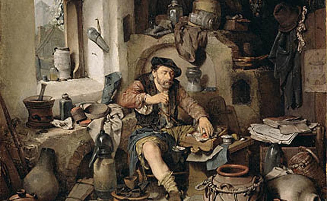 Рабочий рецепт Уже в XVI веке известнейший врач своего времени, Парацельс, предложил якобы рабочую формулу по выращиванию гомункула. Этот видный ученый считал, что сперма, заключенная в специальный сосуд, может развиться в искусственного человека — всего-то и надо, пустяковые магические манипуляции. Сферическую склянку с человеческой спермой следовало нагревать под определенной температурой, затем охлаждать в конском навозе (какие уж тут шутки) и подвергать загадочной «магнетизации» — что это такое науке доподлинно неизвестно.