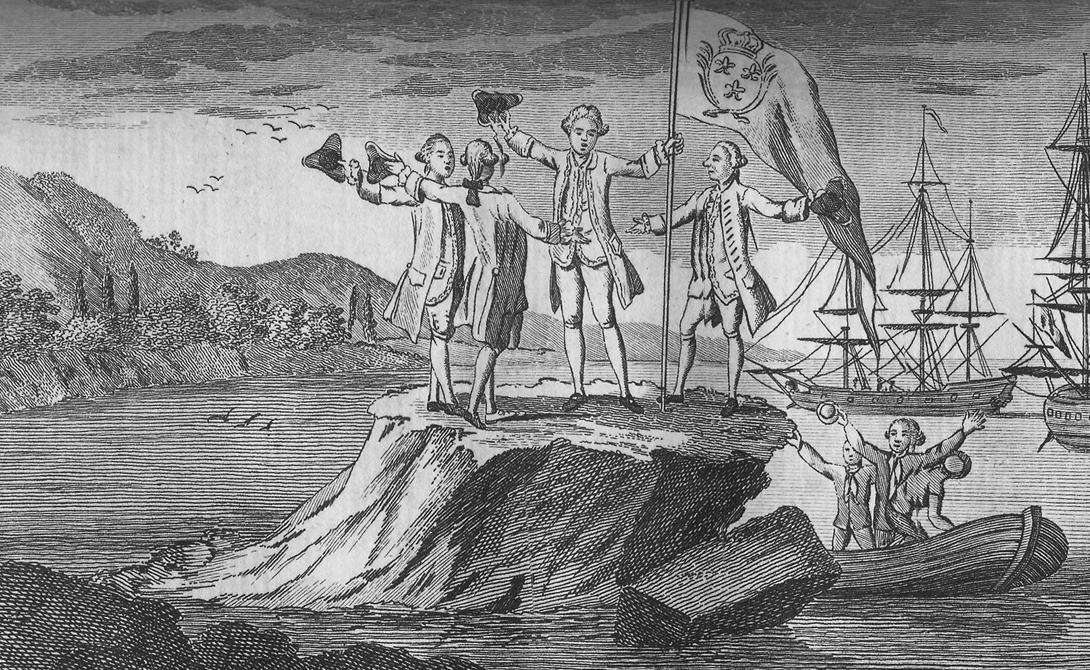 Кругосветное плавание Бугенвилля Луи-Антуан де Бугенвилль был французским адмиралом 18-го века. Он поднялся на видное место в результате боевых действий в Семилетней войне и американской войны за независимость. После войн, Бугенвилль решил стать первым французом, совершившим кругосветное плавание. Взяв под командование два корабля с командой из 330 человек, этот деятельный гражданин и в самом деле смог обогнуть земной шар, завершил же Бугенвилль свое путешествие в 1769 году.