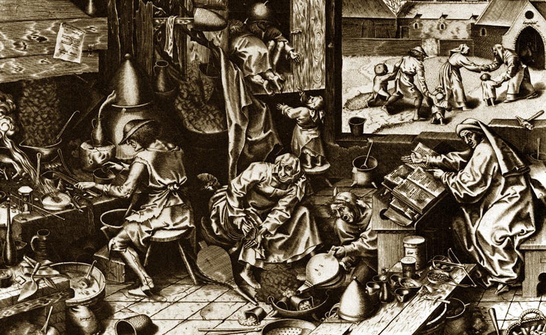 Откуда ножки растут Представления о генетике у предков наших были очень смутными, если были вообще. В средние века считалось, что мужское семя уже содержит мааааленького человечка, который просто вырастает до нормальных размеров в утробе женщины. Здраво прикинув все имеющиеся факторы, алхимики решили что без сосуда греха (собственно, женщины) можно и обойтись — хватит обычной стеклянной реторты.