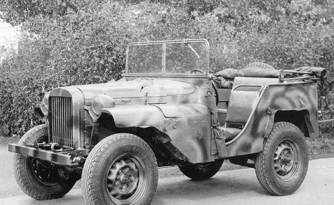 ГАЗ-64 СССР У Советского Союза были и свои собственные джипы — правда, основу конструкторы «подсматривали» у того же Willys MB. Модель ГАЗ-64 поступила на вооружение в 1941 году и прекрасно показала себя на полях сражений. До появления «Виллиса», ГАЗ-64 был незаменимым помощником советским солдатам, а затем нужда в производстве собственного автомобиля просто отпала.