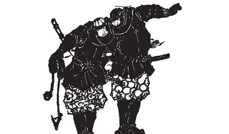 Первое появление Впервые о шиноби повествуется в военных хрониках 1375 года. Летописец упоминает о группе шпионов, сумевших проникнуть в укрепленный замок и сжечь его дотла.