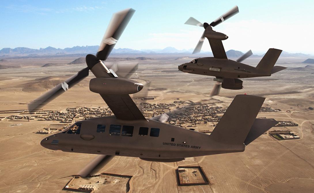 Конвертопланы нового поколения разработаны с учетом всех требований современной войны. Значительно повышена дальность и скорость полета, предусмотрена активная эксплуатация техники в условиях экстремальных температур. По сути, конструкторы создали некий гибрид, сохраняющий скорость самолета и умеющий зависать на одном месте как вертолет.