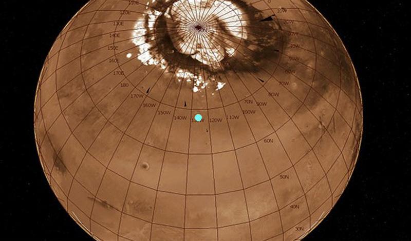 Кроме Земли, Марс является единственной планетой с полярными шапками. Он самый гостеприимный для человека.