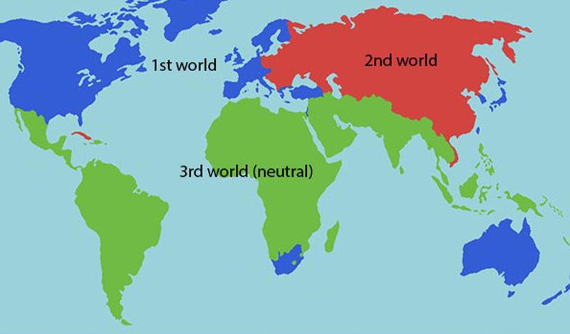 Еще один термин, «страна третьего мира», изначально не означал отсталое государство. Так называли любую страну, которая не выступала ни за США, ни за СССР.