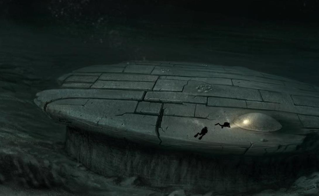 Маркированная как «аномалия Балтийского моря» рукотворная структура выглядит будто настоящий космический корабль, спустившийся под воду со съемок очередной части «Звездных войн».