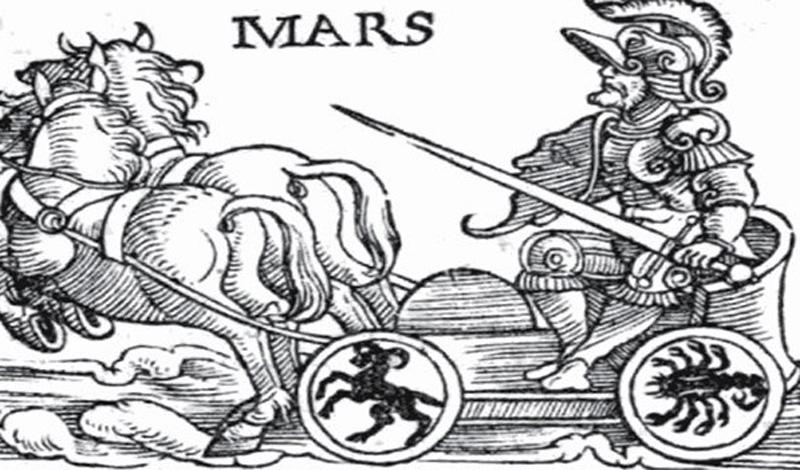 Марс — имя римского бога войны.