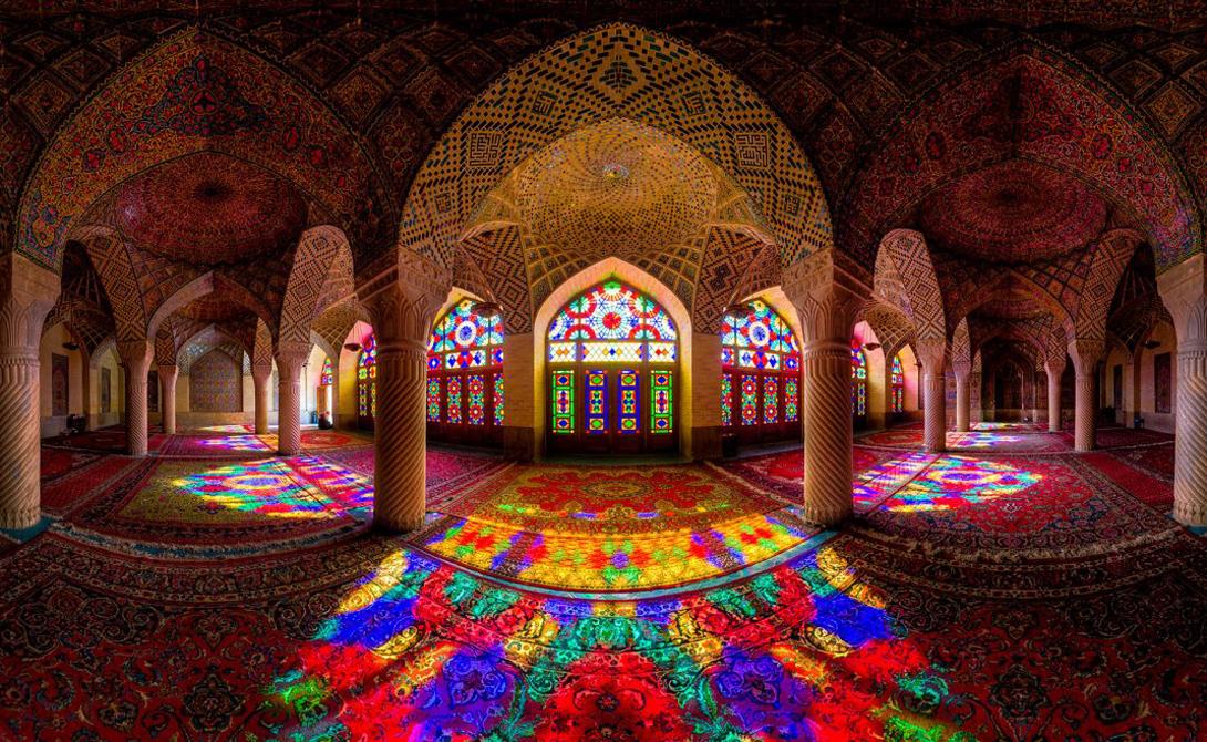 Панорамный вид на мечеть Аль-Мульк Насира, которая был завершена в 1888 году.