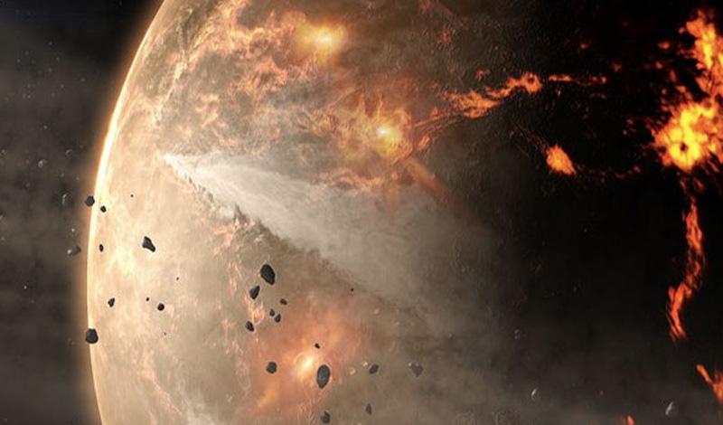 Это были остатки метеоритов, выброшенных на орбиту Солнца. Спустя миллионы лет они упали на Землю.