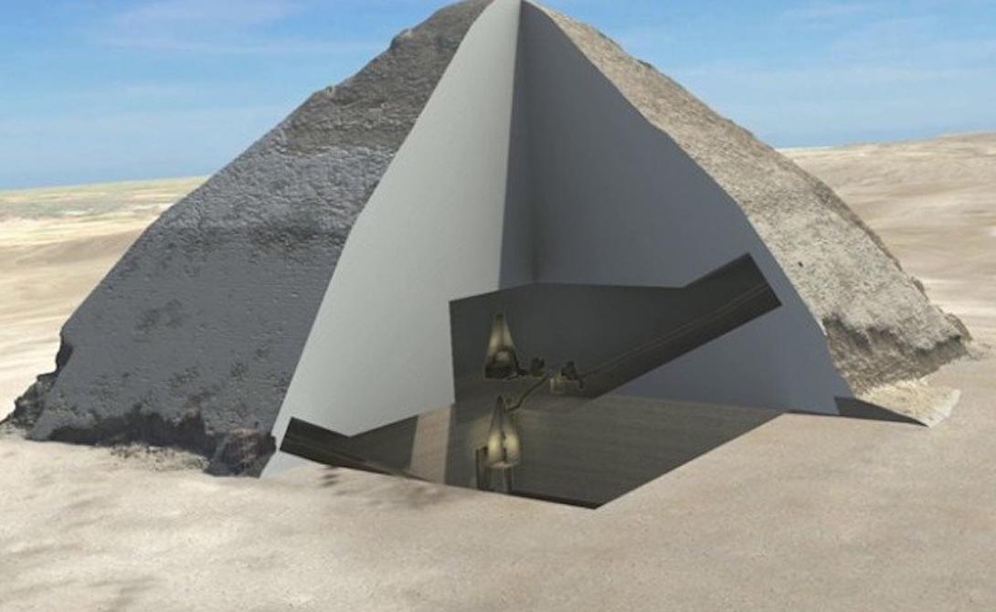 Новый проект Scans Pyramids использует космические лучи, чтобы построить внутренние карты египетских пирамид. На данный момент таким образом вскрыта одна постройка: знаменитая пирамида Бента, также известная как Ломаная Пирамида.