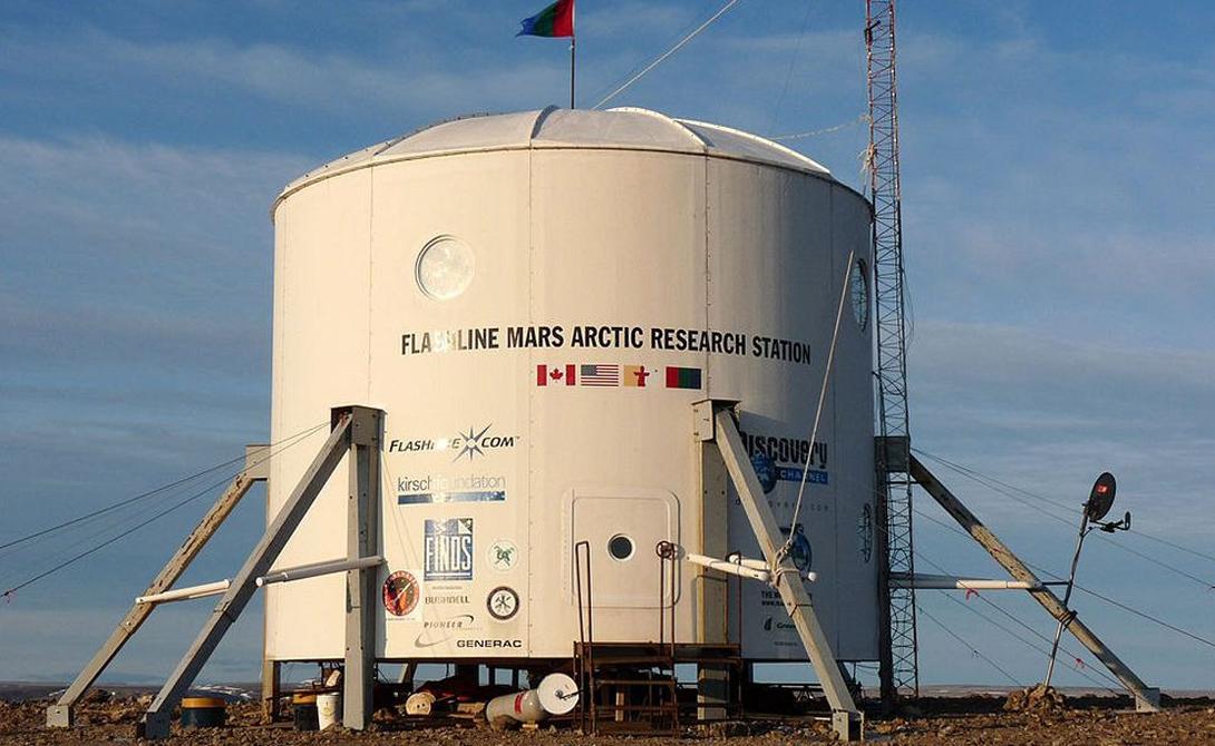 Жилой модуль станции FMARS.