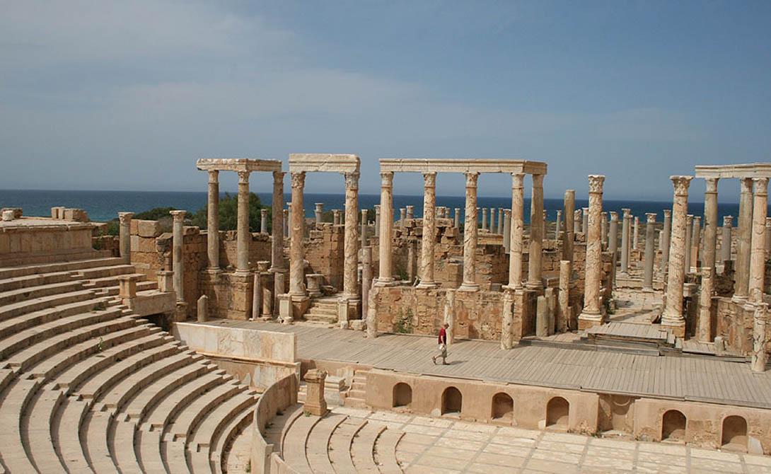 Лептис-Магна Ливия Здесь родился Септимий Север, великий император Рима. Он же развил поселение до большого города, ставшего одним из самых красивых городов Римской империи.