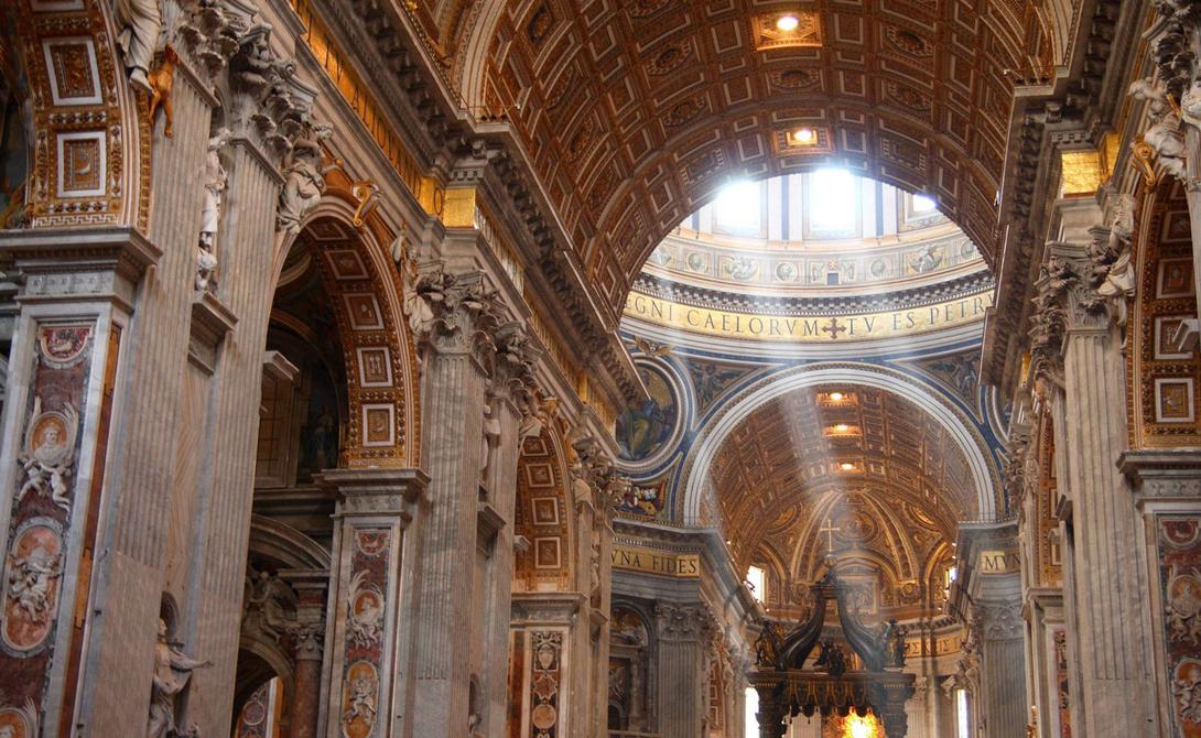 Собор Святого Петра Рим, Италия Католический Собор Святого Петра — крупнейшее здание Ватикана, почитаемое христианами всего мира. Именно здесь вот уже несколько сотен лет проводятся мистические церемонии Римско-католической церкви.