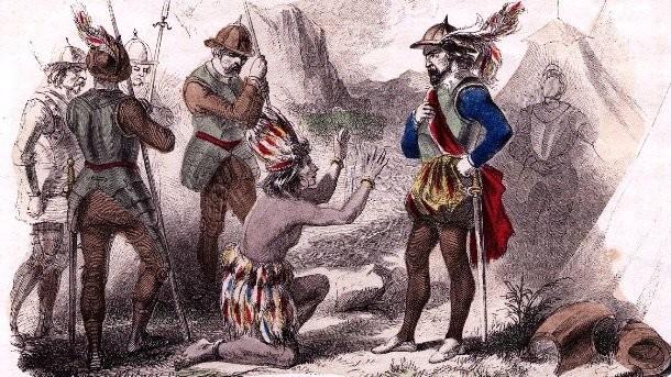 Завоевание Северной и Южной Америк Погибших: 8.4 - 138 млн Европейская колонизация Северной и Южной Америке технически началась еще в 10-м веке, когда норвежские моряки ненадолго поселились в области на берегу современной Канады. Планомерное вторжение же охватывает период между 1492 и 1691 годами. За 200 лет погибли десятки миллионов – историки не могут назвать точную цифру только потому, что не имеют изначальных данных о количестве коренного населения континентов.