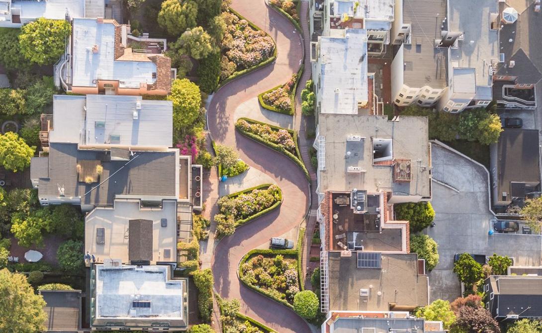 Ломбард-стрит, Сан-Франциско, штат Калифорния Фотограф: Тоби Гарриман