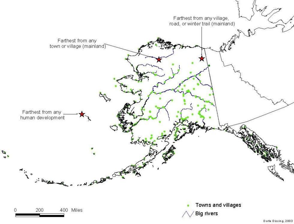 Аляска Самый большой и самый пустой штат Америки. Островок Сент-Мэтью, входящий в состав Аляски, находится невероятно далеко от любого человеческого поселения. Песцы, полевки, пара видов змей и больше ничего.
