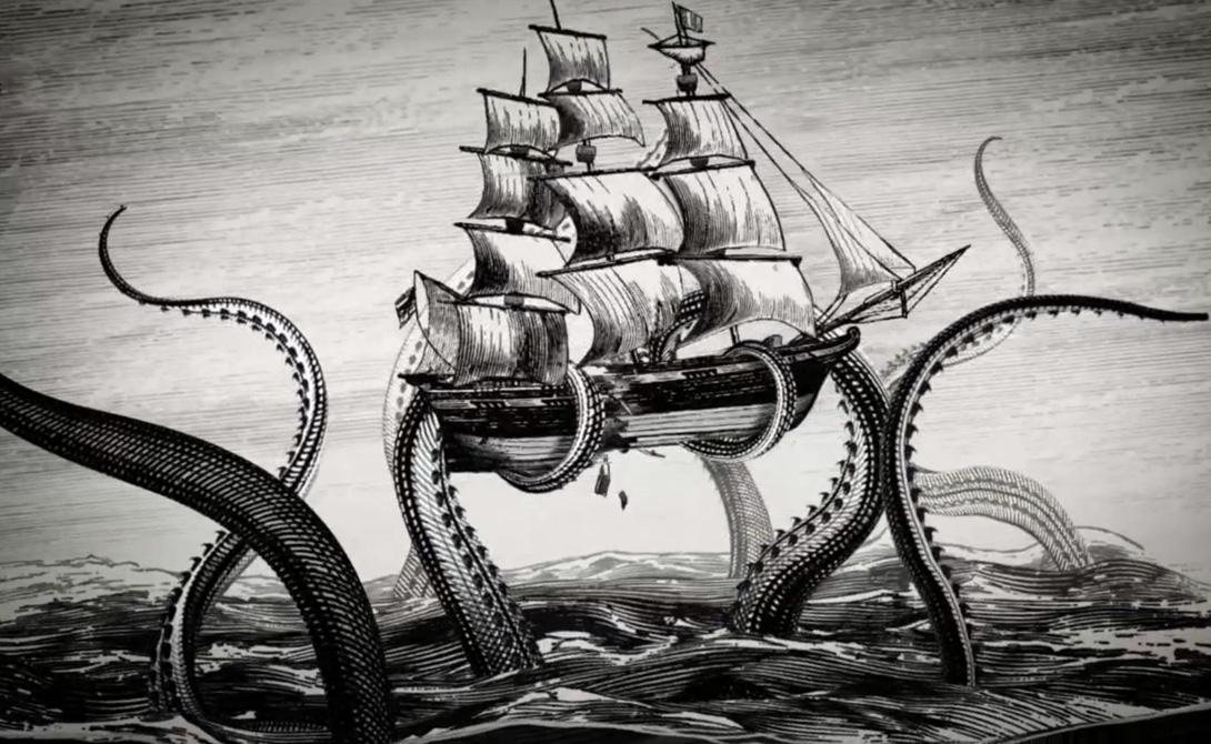 Гигантские кальмары остаются одними из самых загадочных существ нашей планеты. На берег, время от времени, выбрасывает действительно монструозных созданий: в 1639 году на песок английского Дувра выкинуло кальмара длиной в 37 метров.