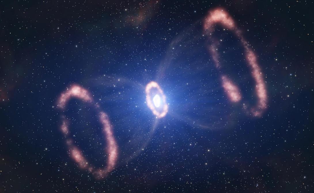 Engraved Hourglass Мрачное изображение этой туманности показывает облака газового облака, бесконечно перемещающиеся по галактике на звездных ветрах.