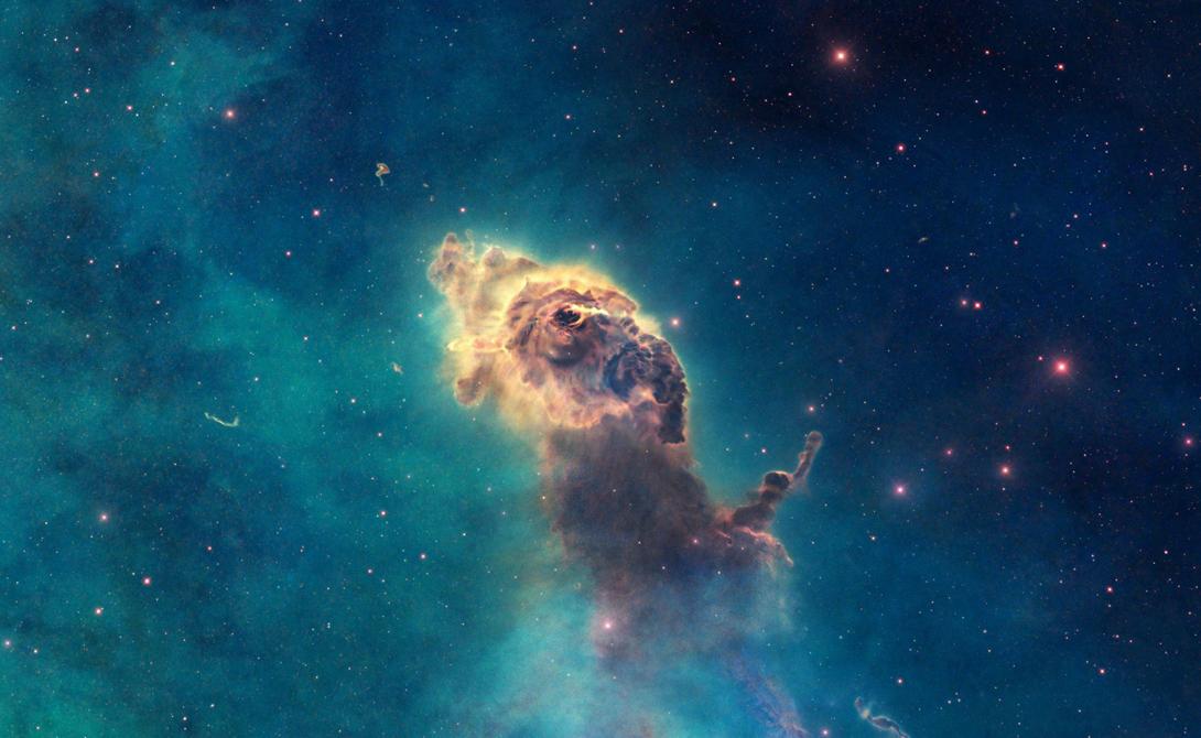Carina Nebula Можете не верить, но в этом изображении нет ни капли фотошопа. Гора газа и пыли распространяется на три световых года в окружности, а само пространство — бесконечный источник энергии.