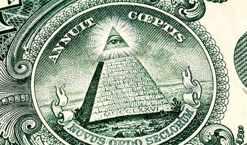 Американский доллар Изображения, нанесенные на доллары США, также ошибочно приписывают иллюминатам. Пирамида, та же фраза о мировом порядке, глаз — все это, на самом деле, объясняется гораздо более прозаично. Пирамида символизирует прочность государства, 13 ее блоков — 13 первоначальных колоний. Глаз означает неусыпную преданность народу, ну а фразу вообще придумал министр сельского хозяйства США Генри Уоллес.