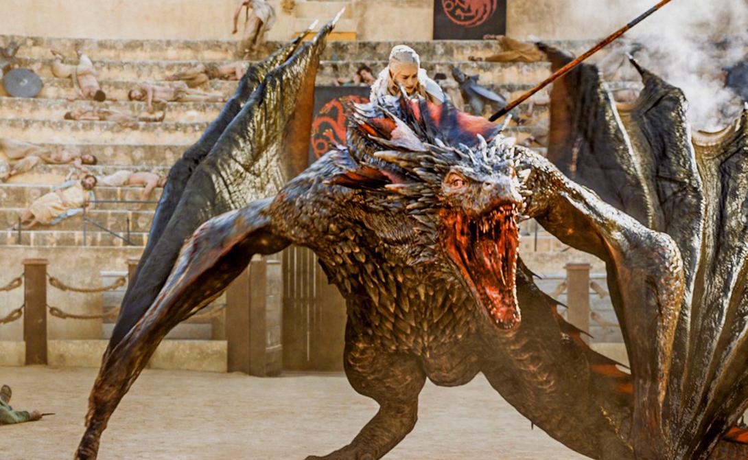 Дрогон Красно-черный окрас крыльев, клыки сабельной остроты и нрав, в точности подходящий дракону. Дрогон из «Игры престолов» по праву занимает достойное место в нашем списке самых крутых драконов истории.