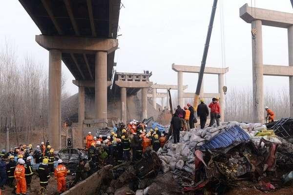 Китайский коллапс Китайский Новый год — традиционное время запуска фейерверков. Один из грузовиков с многочисленных подпольных фабрик перевозил заряд взрывчатки по весьма оживленному шоссе. Случайная выбоина привела к детонации опасного груза: от самого грузовика осталось мокрое место, еще 26 человек погибли от ранений.