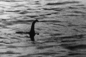 "The Loch Ness Monster  PICTURE TAKEN IN 1934 OF THE LOCH NESS MONSTER BY DR KENNETH WILSON, A LONDON GYNAECOLOGIST. THE NESSIE PHOTO, WHICH WAS PUBLISHED IN THE DAILY MAIL ON APRIL 21st 1934. FIFTY NINE YEARS LATER, A MAN CALLED CHRISTIAN SPURLING CLAIMED ON HIS DEATH BED THAT HE HAD TAKEN PART IN FAKING THE THE PHOTO USING A MODEL MADE FROM PLASTIC WOOD, BUT THE DEBATE CONTINUES. Known as the ""surgeon's photograph""  See also pic 795224"