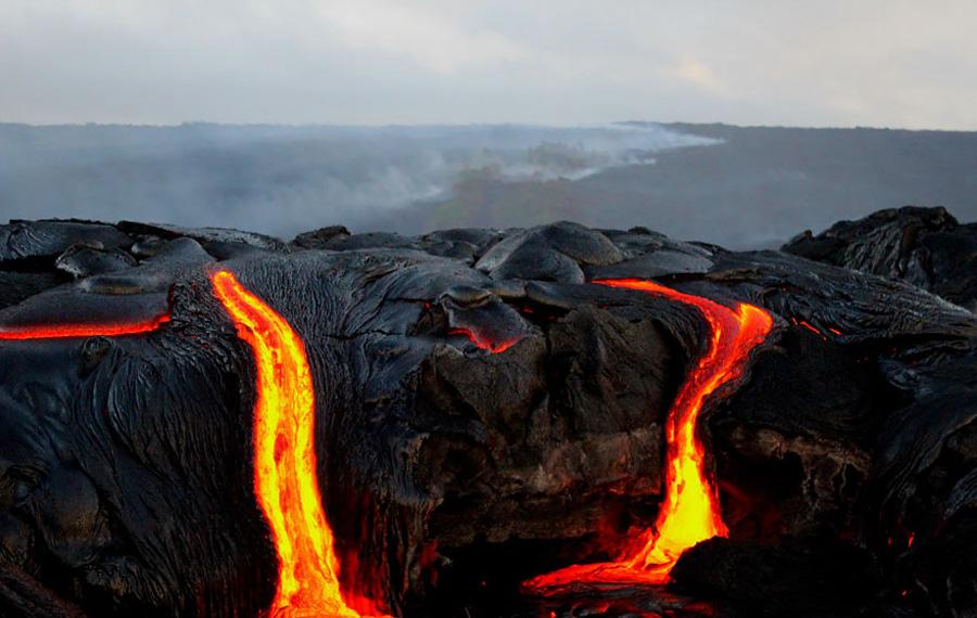 Горящая лава Что видит зритель