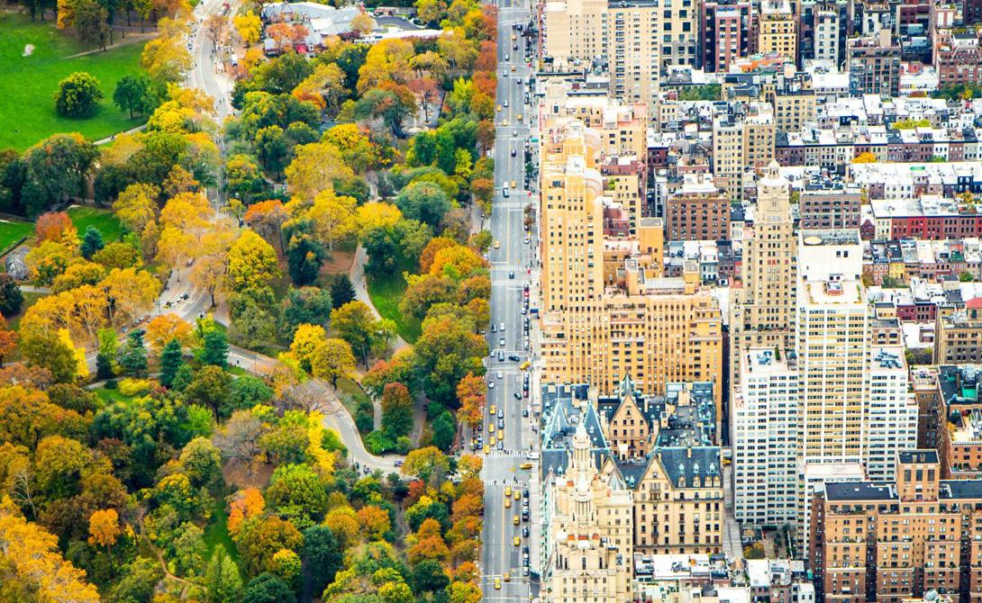 Divide Автор: Кэтлин Долматч Каноничное разделение природы и мегаполиса привлекает многих фотографов. На снимке — Центральный Парк и Манхеттен.