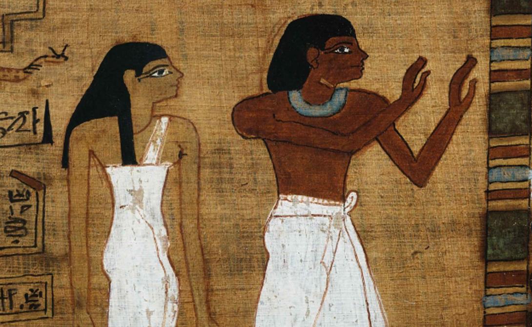 Вопрос пола Хотя нам кажется невозможным определить пол изображенного бога, египтяне справлялись с этим очень легко. Боги-мужчины имели более темную, красновато-коричневую кожу, а богини отличались светлым тоном, показывающим закрытость их образа жизни.