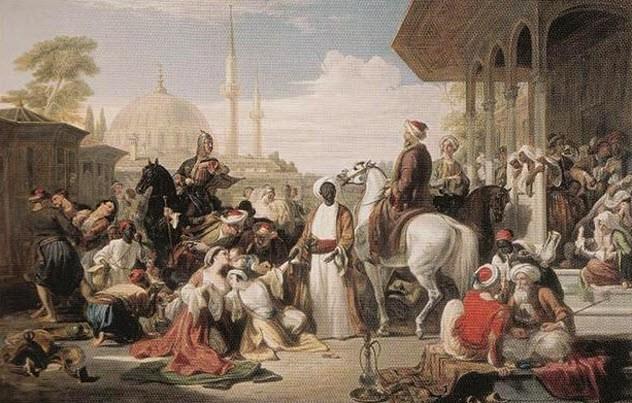 Рабство Вплоть до XIX века рабство в Османской империи было довольно ограничено. Большинство рабов были из Африки и Кавказа (особенно ценились чрезмерно услужливые и, в то же время, храбрые адыги). Русские, украинцы и даже поляки — все, кроме мусульман, которых нельзя было поработить юридически. Однако, ослабевшая империя уже не могла обеспечить себе необходимый приток рабочей силы. Исповедующие ислам также стали порабощаться, с известными оговорками, разумеется. Османская система была очень жестока. Сотни тысяч людей гибли в набегах и работали на полях до смерти. Это даже не упоминая весьма распространенный ритуал кастрации: считалось, что евнухи менее склонны к бунту. Известный историк, Менер Льюис, в одной из своих работ указывал на миллионы импортированных их Африки рабов — а ведь в современной Турции совсем немного осталось людей африканского происхождения. Один этот факт уже повествует об ужасных традициях османского рабства.