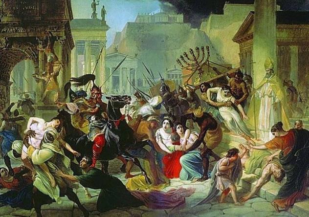 Падение Римской империи Почти тысячу лет Рим оказывал глубочайшее влияние на средиземноморскую и европейскую культуру. Многие государства с переменным успехом пытались подражать великой империи. Падение Западной Римской империи чуть не стало концом всего цивилизованного общества в целом. С 5 по 8 века нашей эры вестготты, готы и пресловутые вандалы (чье название стало нарицательным из-за жестоких обычаев племени) грабили и уничтожали половину современной Европы. Мир вполне мог бы снова вернуться к Темным векам.