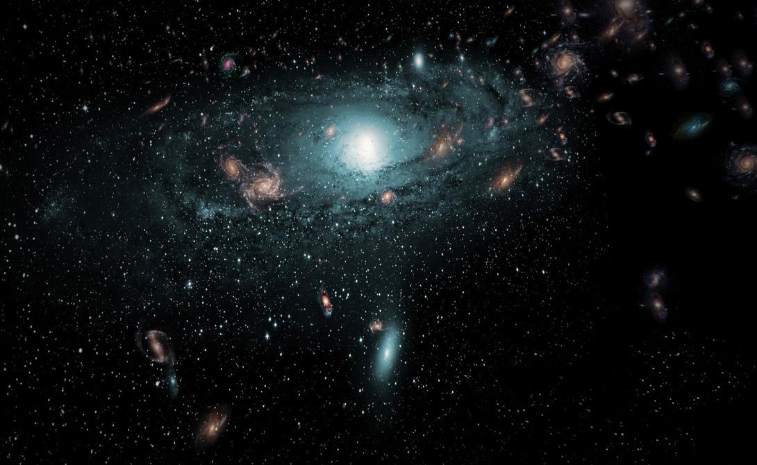 Великий аттрактор Эта гравитационная аномалия расположена в межгалактическом пространстве на расстоянии в 250 миллионов световых лет. Масса Великого аттрактора в десятки тысяч раз превышает массу всего Млечного пути. Едва ли мы одиноки во Вселенной, ведь именно здесь шанс существования иной цивилизации очень высок.