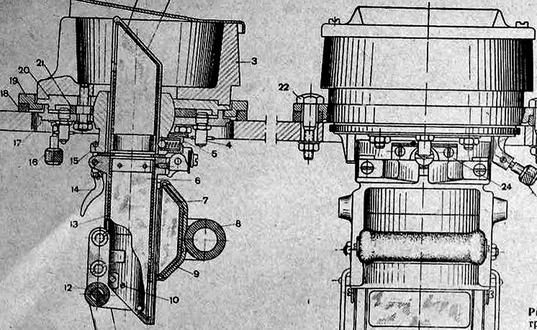 Прибор наблюдения 1943 год Советский Союз встретил в исключительно тяжелом положении. Потери на фронте, захват противником обширных территорий страны сразу сказался на объемах и качестве выпускаемой тяжелой промышленности. Принудительному регрессу пришлось подвергнуть и Т-34, несмотря на ключевую позицию этого танка на линии фронта. Многие машины практически полностью лишались оптических, перископических и наблюдательных приборов, получив взамен простые визирные щели. Уже в конце 1943 года «тридцатьчетверки» стали оснащаться новыми наблюдательными приборами МК-4, полностью скопированными с британской модели Mk.IV.