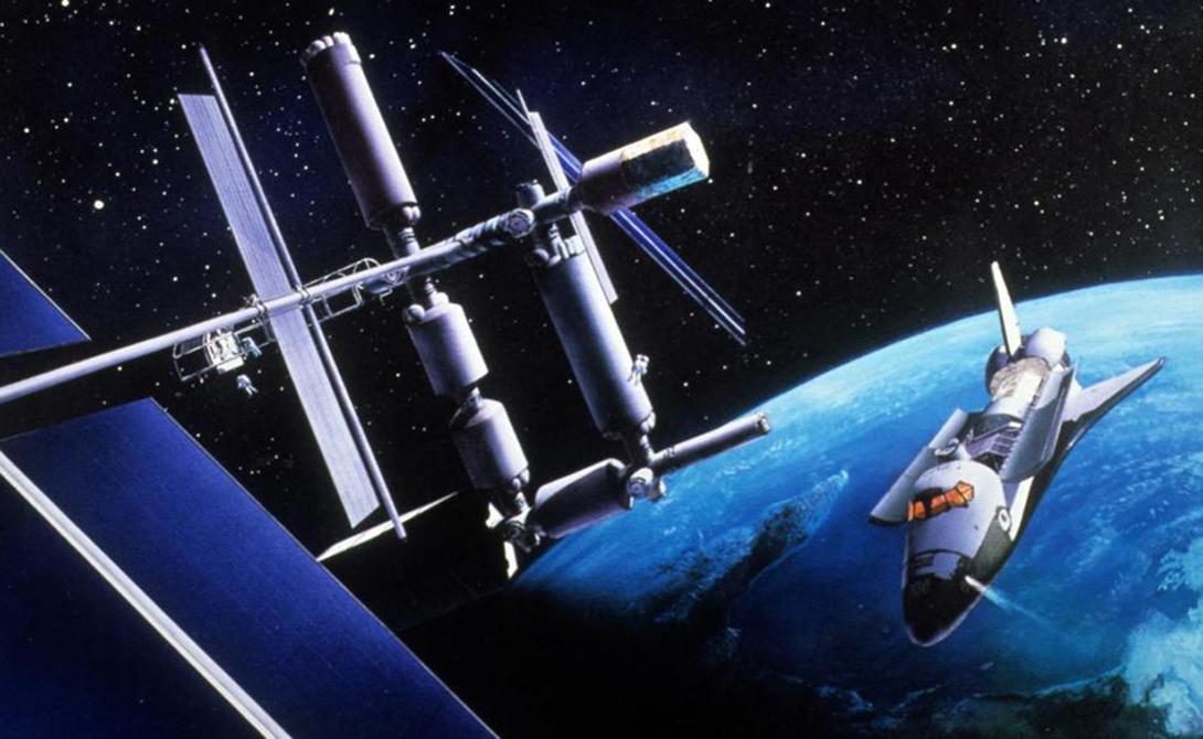 Космическая станция Свобода Космическая станция, создававшаяся под патронажем президента Рейгана, очень отличалась от Международной космической станции. Проект Freedom задумывался как орбитальная лаборатория со встроенным ангаром для ремонта космических аппаратов. Кроме того, здесь предусматривалось создание полноценного лазарета, на случай боевых столкновений с кораблями Советского Союза. Станция больше напоминала футуристичные мечты писателей-фантастов и была непомерно дорога. С окончанием Холодной войны, нужда в подобном монстре на орбите отпала вовсе.