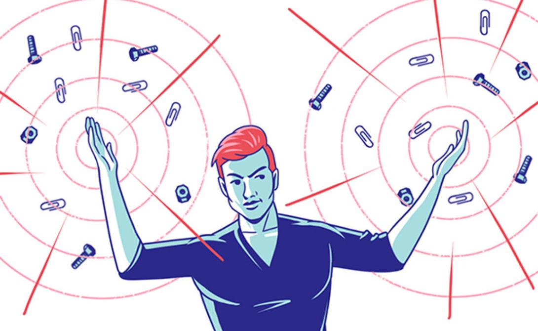 Чувствовать электромагнитные поля Магниты весьма просты в имплантации и занимают немного места. Бодихакеры стали использовать магниты в качестве первого улучшения тела: вживленный в кожу крошечный осколок этого материала позволяет человеку чувствовать электромагнитное поле бытовой техники вроде микроволновых печей. Кроме того, трюки с прилипающими к пальцам металлическим предметам также выглядят весьма впечатляюще.