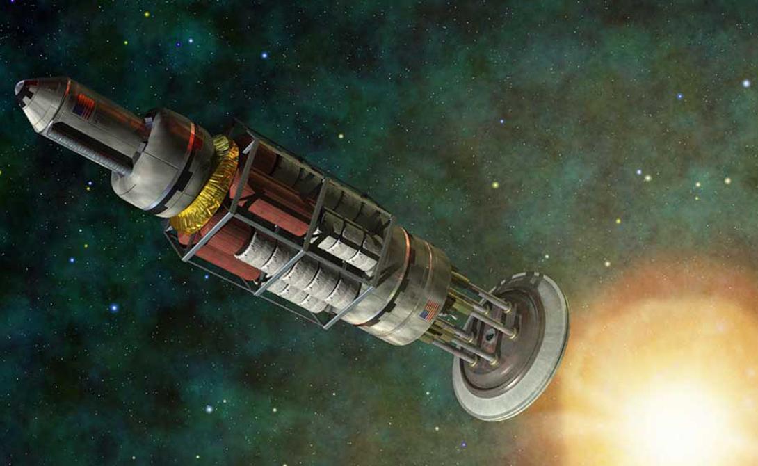 Ядерный двигатель Nera На сером бетоне небольшой площадки музея Marshall Space Flight Center пылится один из самых необычных двигателей, когда-либо разработанных НАСА. Программа предусматривала совместное использование этого двигателя и шаттла, предназначенного для полета на Марс. Естественно, все держалось в строжайшем секрете: полет к Красной планете должен был стать очередной победой капитализма над коммунистическим Советским Союзом. Многие современные инженеры и сейчас считают, что у проекта есть перспективы в будущем. Около 20 ядерных двигателей такого типа прошли успешные испытания, но в 1973 году правительство, по непонятным причинам, приняло решение свернуть работы по освоению Марса.