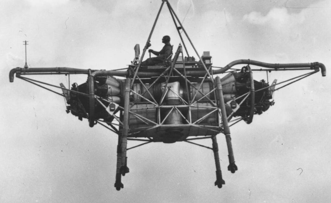 Летучий Rolls-Royce Без крыльев, без винтов, только на турбореактивных двигателях. Компания Rolls-Royce изготовила этот странный аппарат в конце 1950-х годов, теперь же он хранится в британском Музее науки, Лондон.