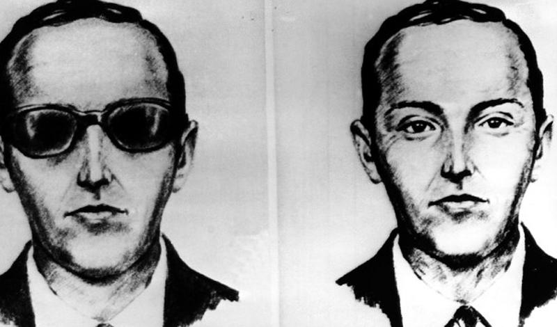 Ди-Би Купер В 1971 году скромный человек в черном костюме и галстуке поднялся на борт самолета, следующего в Сиэтл. Сразу после взлета этот непримечательный мужчина показал стюардам бомбу, вытребовал у правительства $ 200 000 и четыре парашюта, а затем просто растворился в воздухе, выпрыгнув где-то над Мехико.